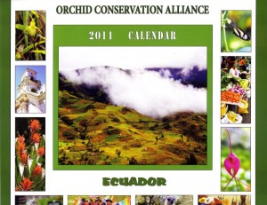 Orchid Conservation Alliance 2011 calendar cover