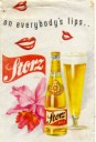 Storz beer ad with Cattleya flower