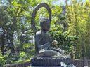 Bronze Buddha statue, cast in 1790 in Tajima Japan, Japanese Tea Garden, Golden Gate Park, San Francisco, California